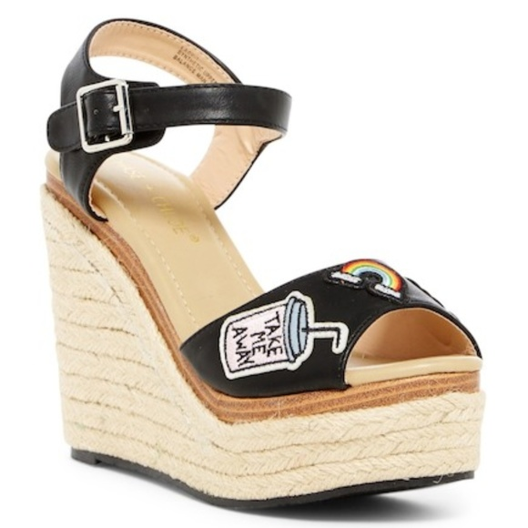 Chase Chloe 10 Lacy Applique Espadrille